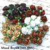 Mixed Brown  MULBERRY PAPER OPEN ROSES