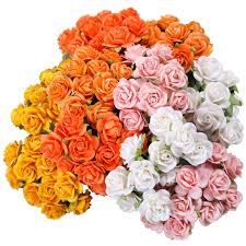 100 mixed Orange Open Roses