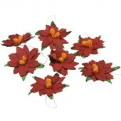 DEEP RED MULBERRY PAPER POINSETTIAS