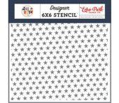 Echo Park All Star 6x6 Inch Stencil