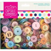 Papermania Spots/Stripes Brights Assorted Buttons