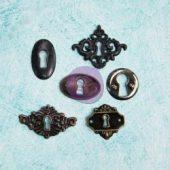 Key Holes - Prima Marketing Junkyard Findings Metal Trinkets