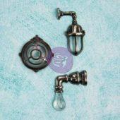 Industrial Wall Lamps - Prima Marketing Junkyard Findings Metal Trinkets