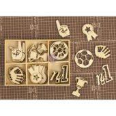 Allstar Laser Cut Wood Icons In A Box