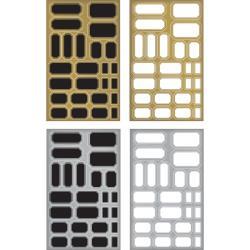 "Labels - Idea-Ology Metallic Stickers 4.75""X7.75"" 4/Pkg"
