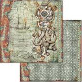 """Octopus - Stamperia Double-Sided Cardstock 12""""X12"""""""