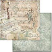 """Music - Stamperia Double-Sided Cardstock 12""""X12"""""""
