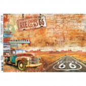 Route 66, Collateral Rust - Ciao Bella Rice Paper Sheet A4 5/Pkg