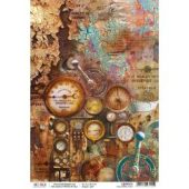 Collateral Rust - Ciao Bella Rice Paper Sheet A4 5/Pkg