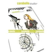 Etude #1: Girl & Bird- Carabelle Studio Cling Stamp A6