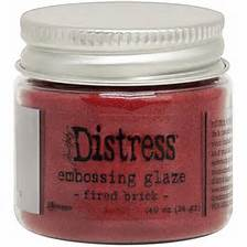 Tim Holtz Distress Embossing Glaze- Fired Brick