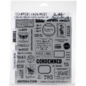 "Field Notes - Tim Holtz Cling Stamps 7""X8.5"""