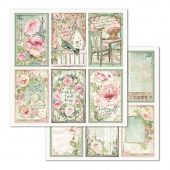 "Frames House Of Roses- Stamperia Double-Sided Cardstock 12""X12"