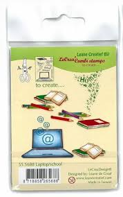 LeCrea - Clear stamps - Laptop / School