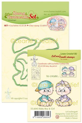 LeCrea - Lea'bilitie stamp & Contour die set Baby boy&girl