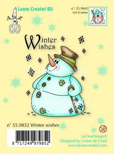 LeCrea - Clear stamp Snowman Winter wishes