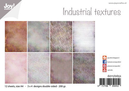 Joy! Crafts Paper set - Design - Industrial textures 12 sh