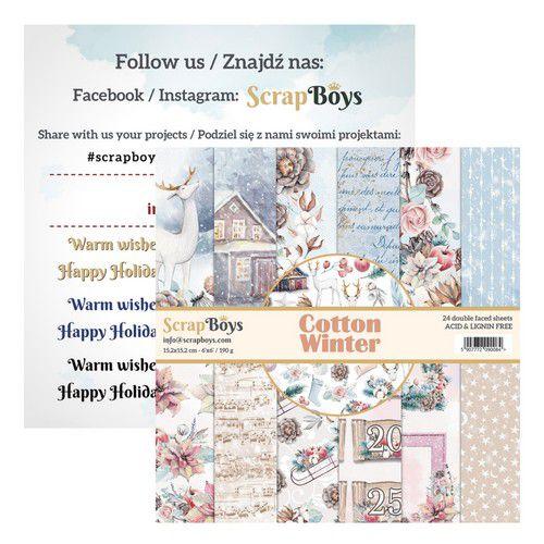 ScrapBoys Cotton Winter paperpad 24 sh+cut out elements