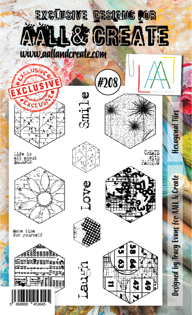 All&Create - #208 - A6 STAMP - Hexagonal tiles