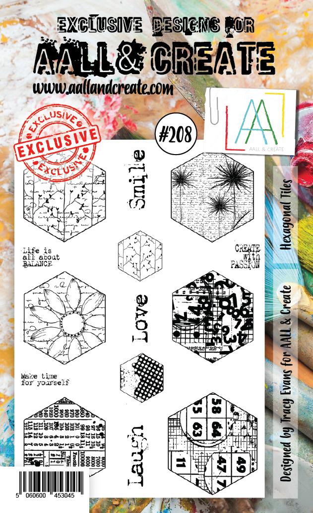 All&Create - #208 - A6 STAMP - Hexagonal tiles