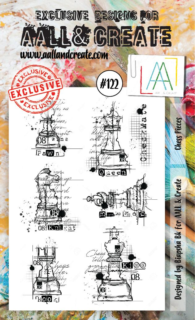 All&Create - #122 - A6 STAMP - Chess pieces