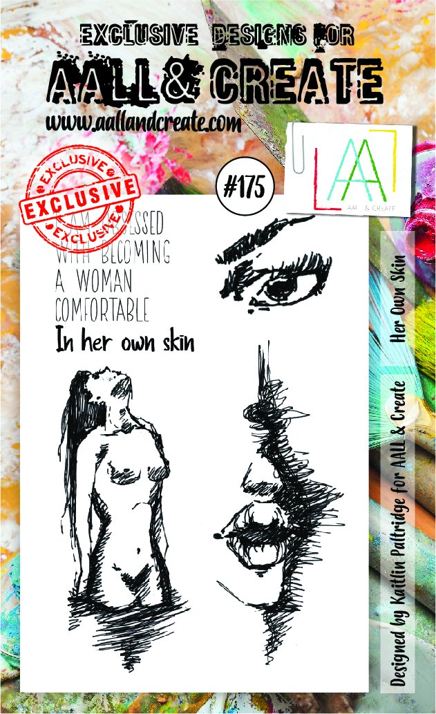All&Create - #175 - A6 STAMP - Her own skin