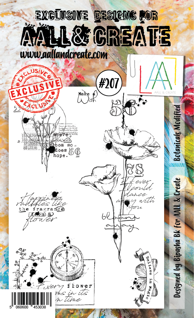 All&Create - #207 - A6 STAMP - Botanicals modified
