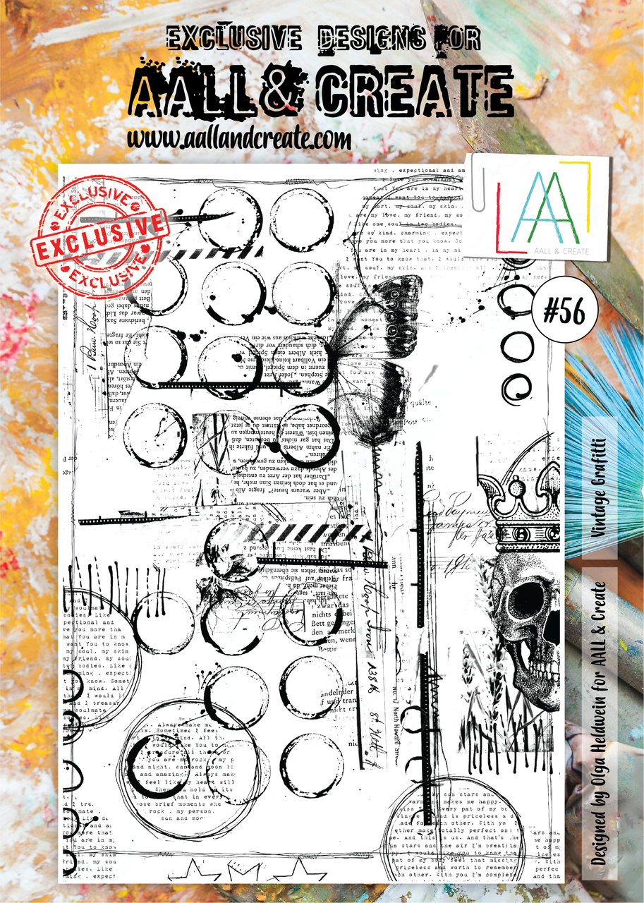 Aall&Create - #56 - A4 - Vintage Grafitti