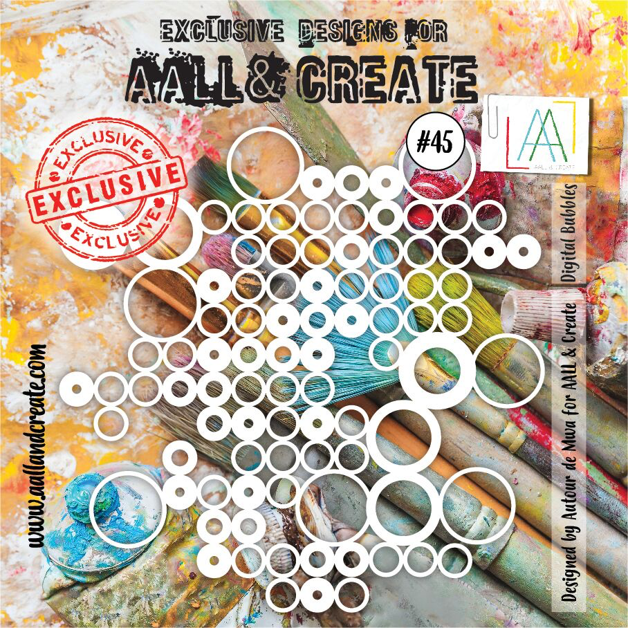 Aall&Create - 6 x 6 - #45 - Digital Bubbles