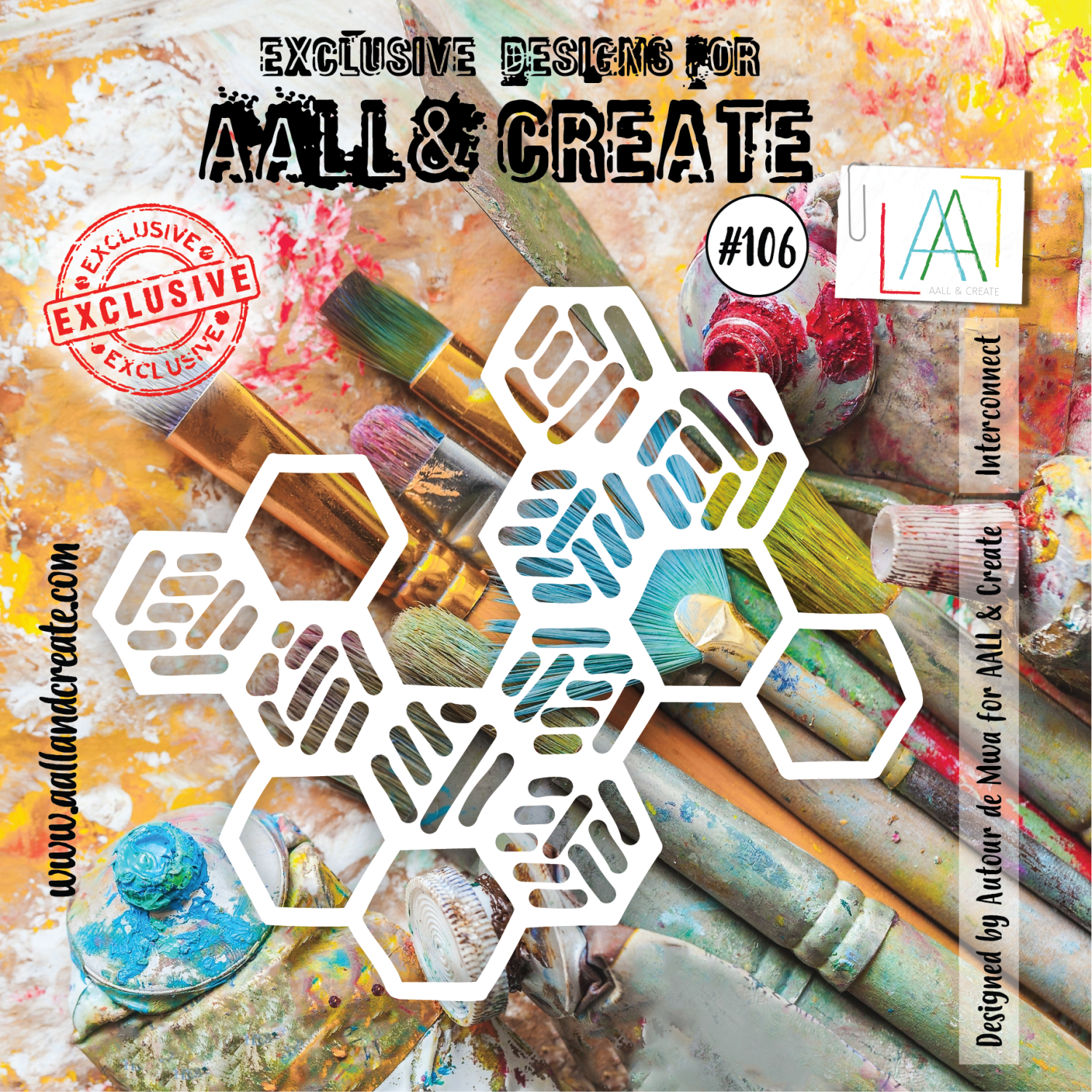 Aall&Create - 6 x 6 Stencil  - #106 - Interconnect