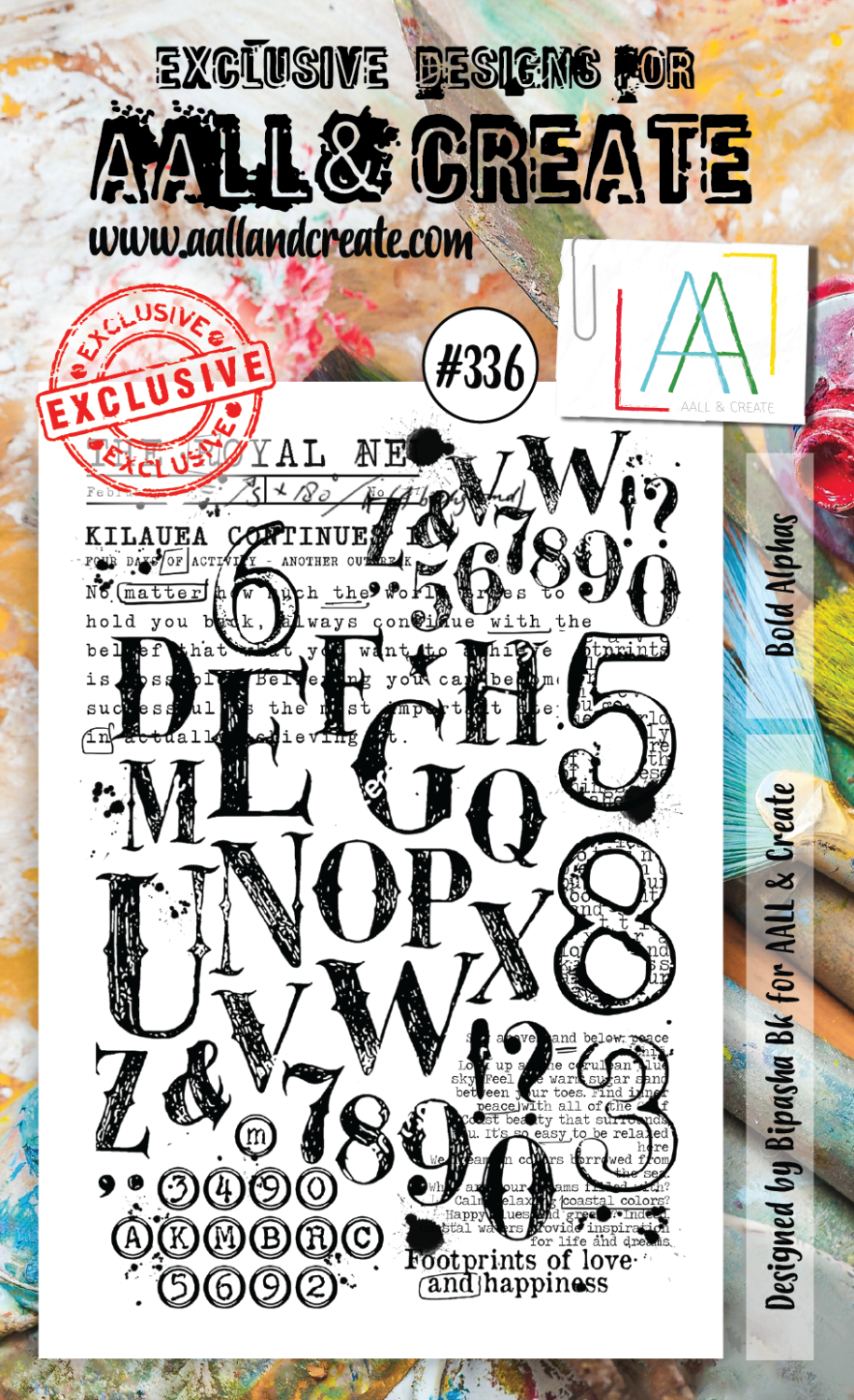 Bold Alphas #336 - A6 STAMPS - AAll&create