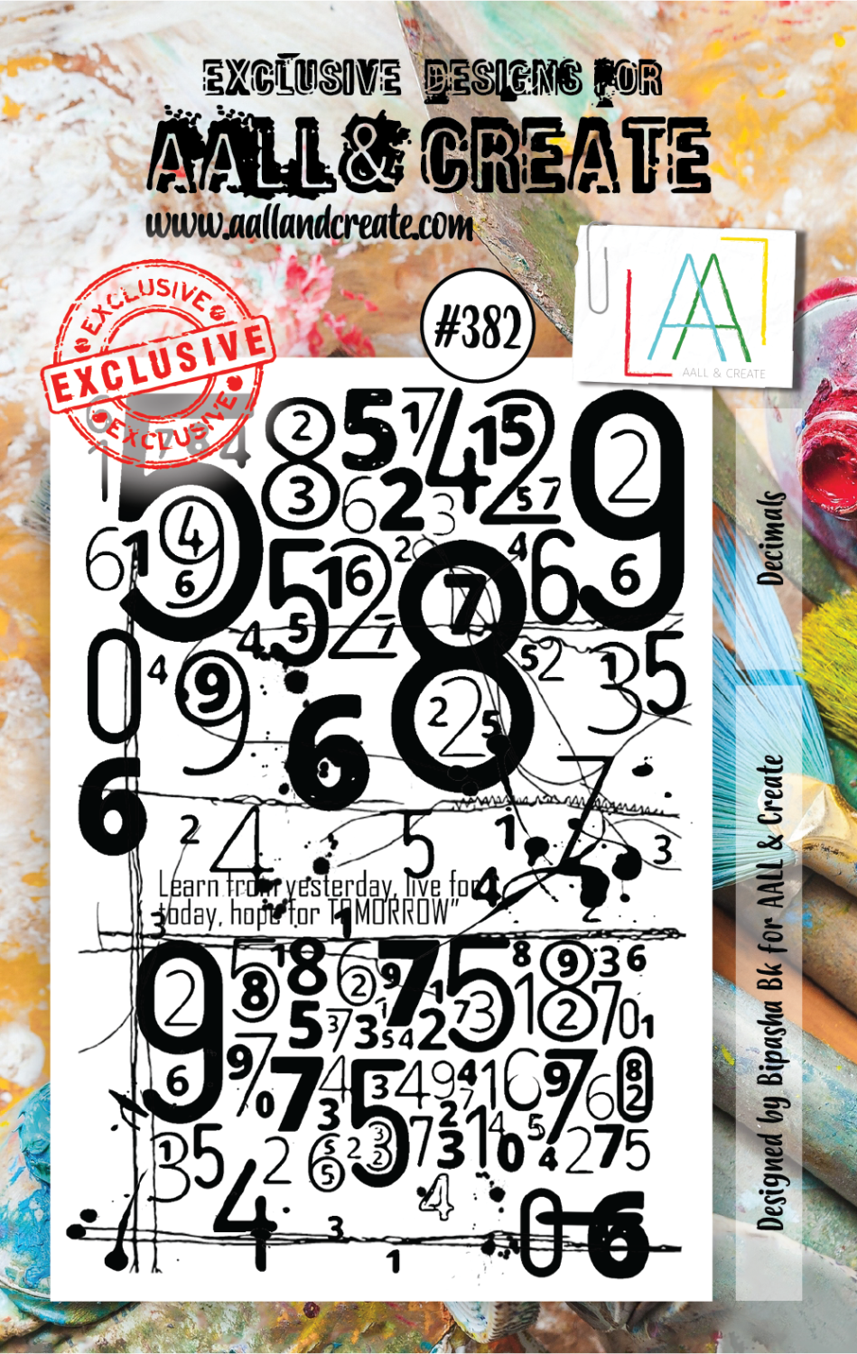 Decimals - #382- A7 STAMP - AAll&Create