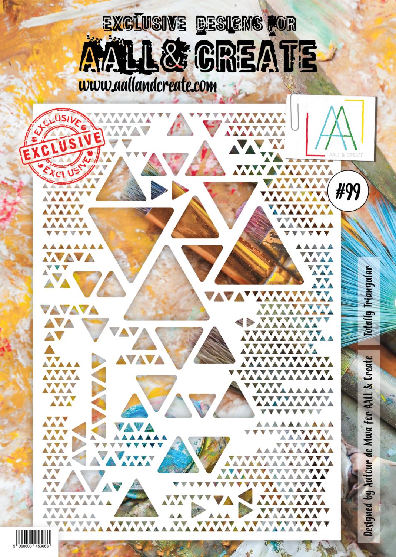Totally Triangular #99 - A4 STENCIL - AAll&Create