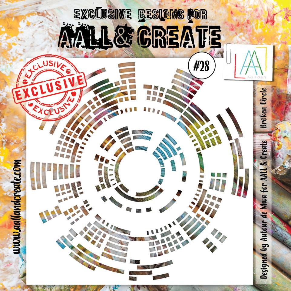 Broken Circle #28 - 6'X6' STENCIL - AAll&Create