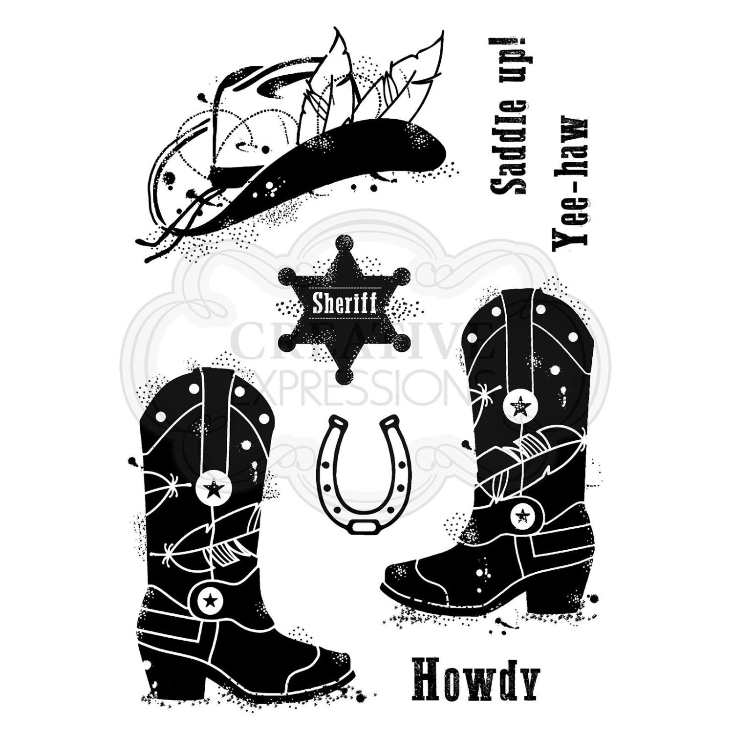 Howdy cowboy - Clear stamp set