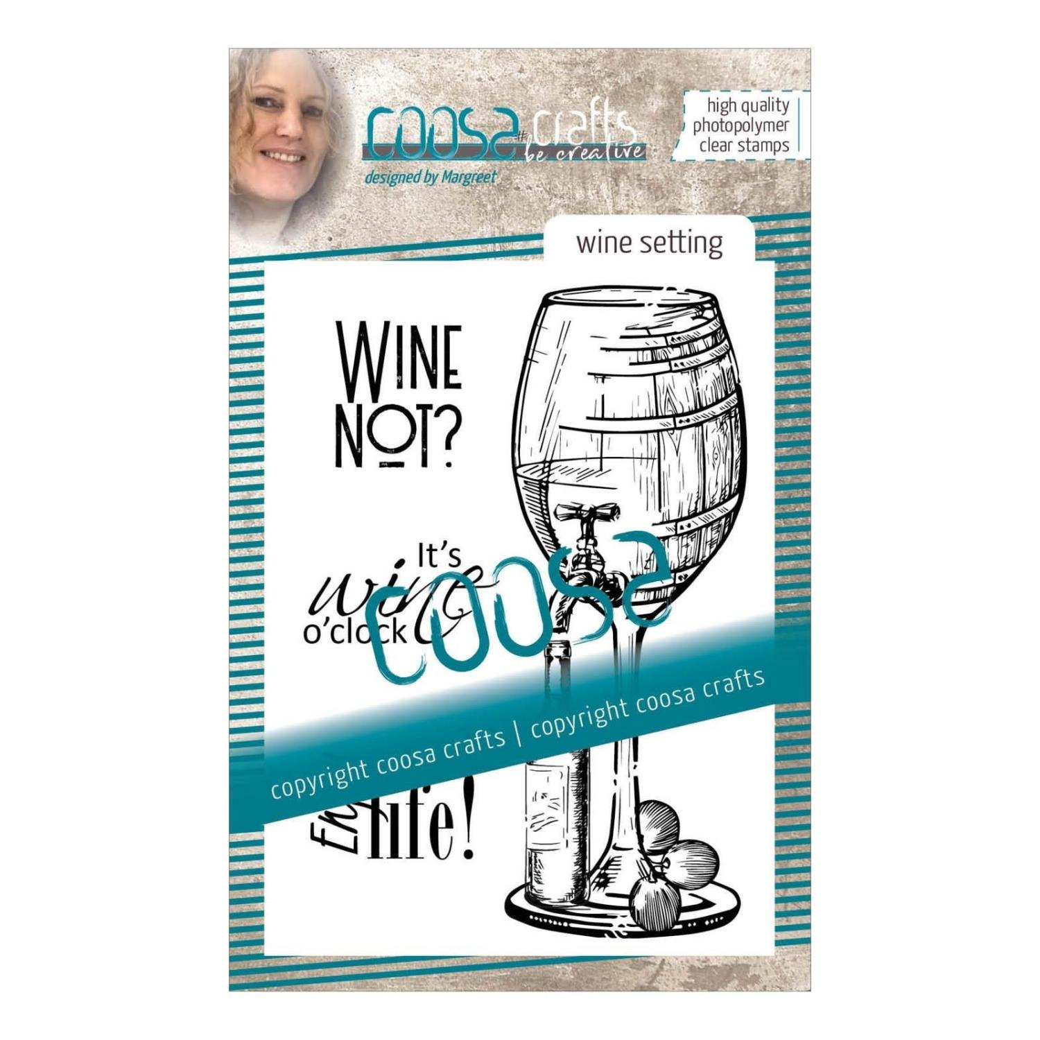 Wine setting - Clear stamp