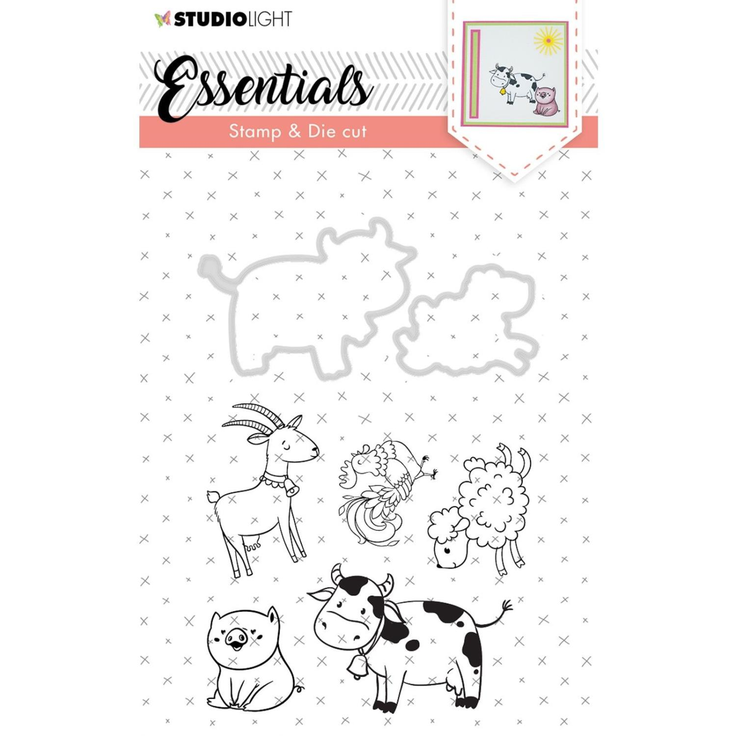 Studio Light • Stamp & die cut - A6- Essentials nr.32