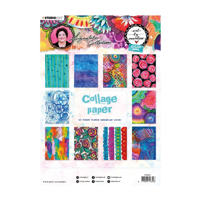 Collage paper - A4 - Art By Marlene  - 5.0 nr.06 - Studio Light •
