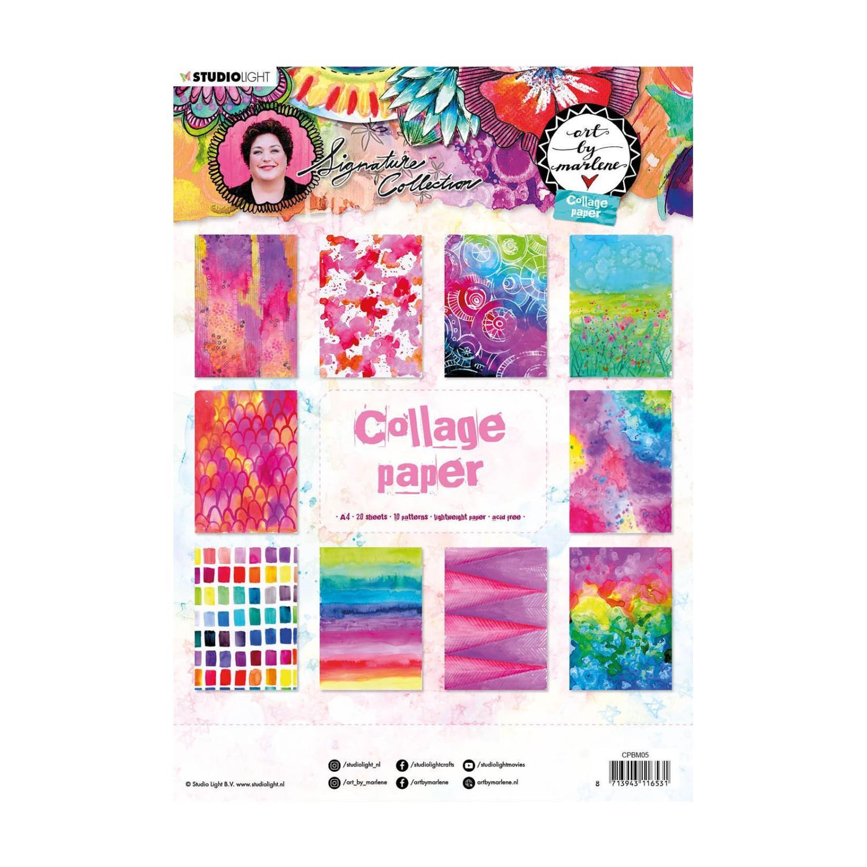 Collage paper -A4 - Art By Marlene  - 5.0 nr.05 - Studio Light •
