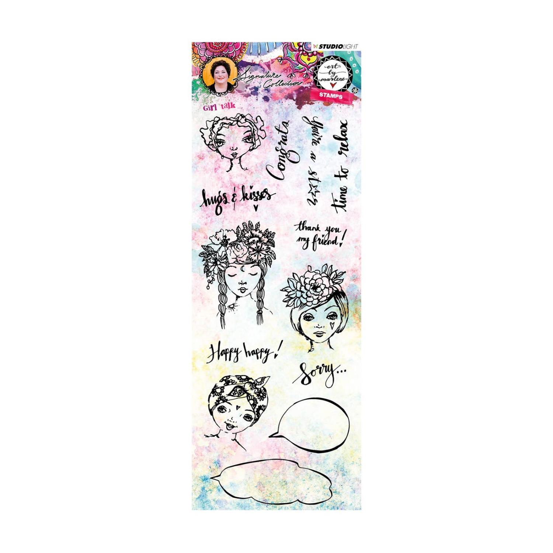 Art By Marlene - Clear stamp - Girl talk