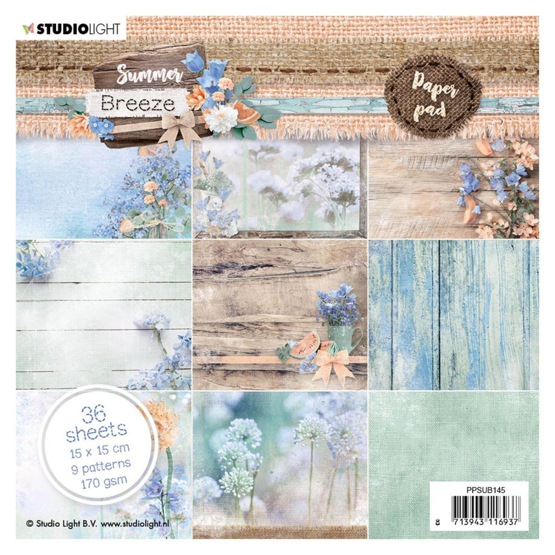 Studio Light • Paper pad 15x15cm Summer breeze nr.145