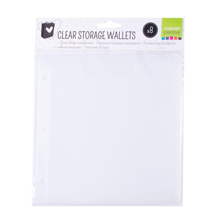 Clear storage wallets