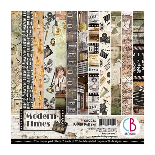 "CIAO BELLA - MODERN TIMES - PAPER PAD - 6 X 6"""
