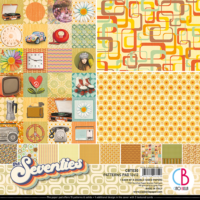 CIAO BELLA - THE SEVENTIES -PATTERNS PACK 12 X 12""