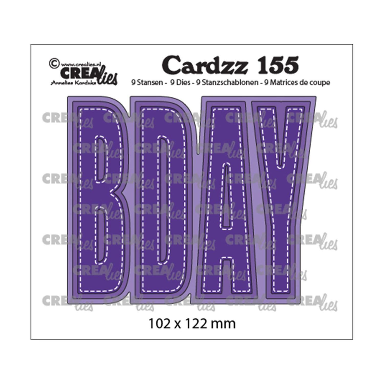 Crealies • Cardzz  no.155 bday