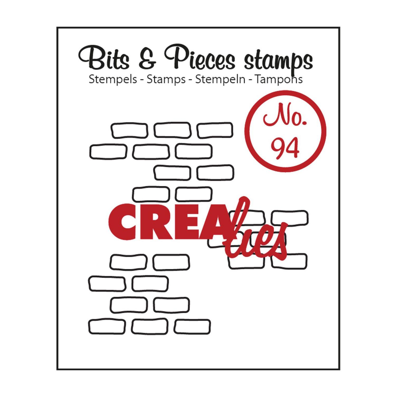 Crealies Bits & Pieces Stamps no.94 3x open bricks medium