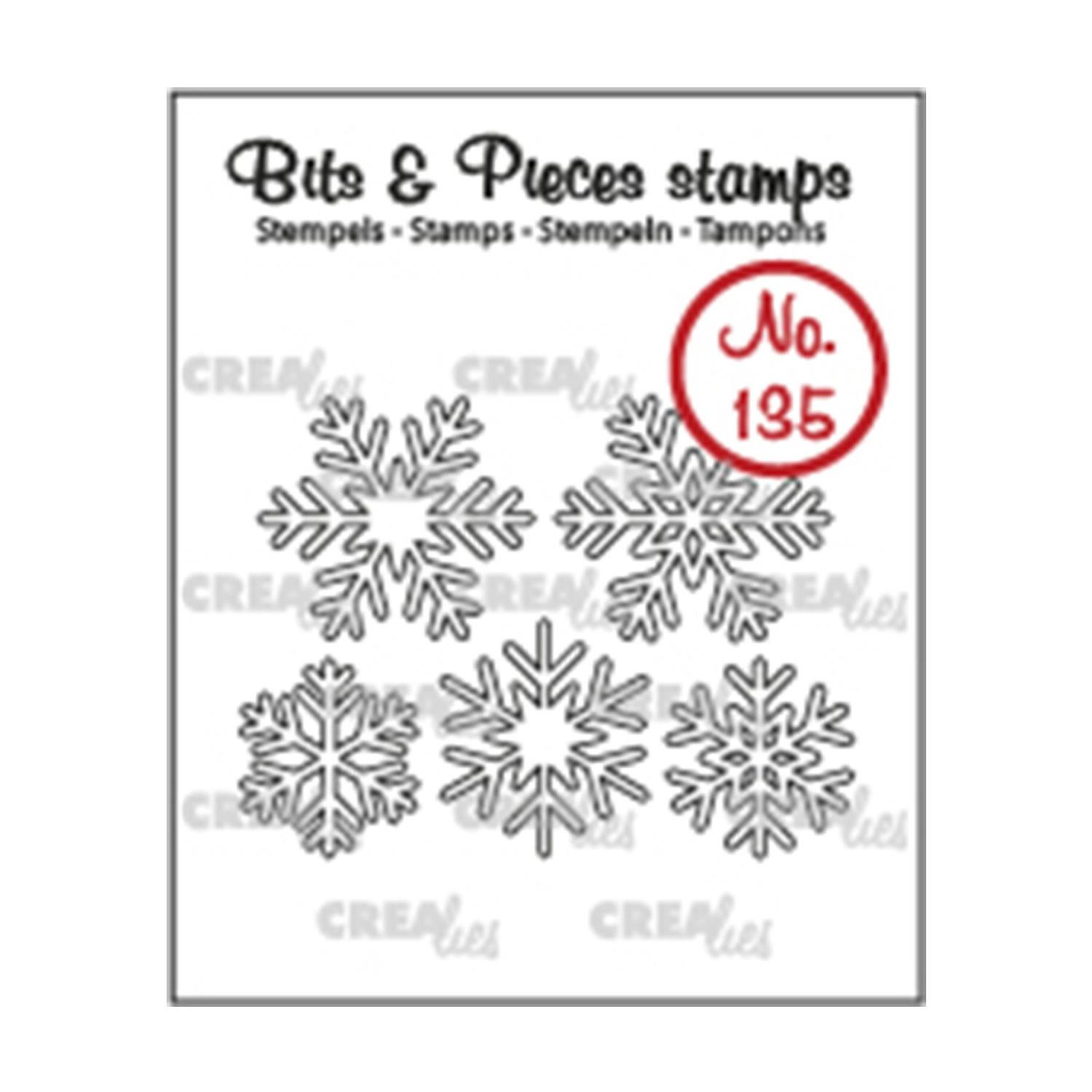 Crealies Bits & Pieces Stamps no.135 snowflakes