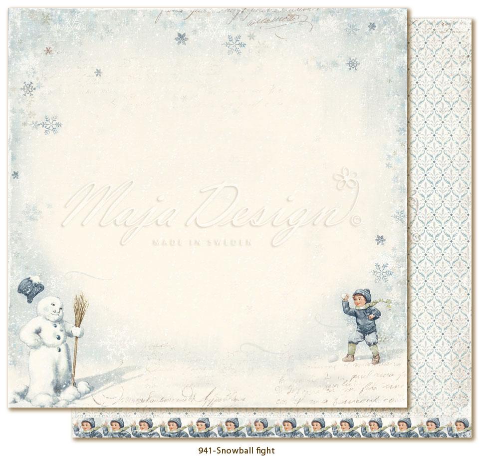 Joyous Winterdays - Snowball fight - Maja DEsign