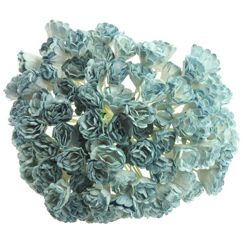 MULBERRY PAPER GYPSOPHILA FLOWERS 2-TONE ANITQUE BLUE