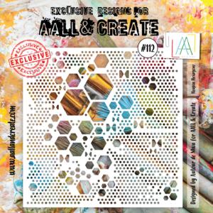 AAll&Create- Lotza Triangle - #105 - 6'X6' STENCIL -